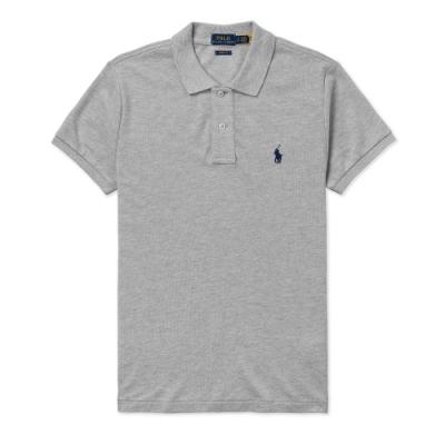 Polo Ralph Lauren 年度熱銷刺繡小馬短袖POLO衫(SKINNY FIT)(女)-灰色