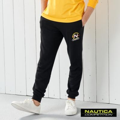 Nautica COMPETITION經典素色運動長褲-黑色
