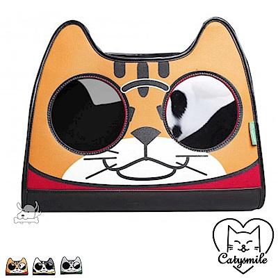 Catysmile 眼鏡貓 寵物雙肩後背包 共3色