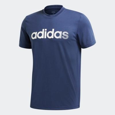 adidas 短袖上衣 運動 訓練 休閒 男款 藍 FM1227 DESIGNED 2 MOVE CLIMALITE SOFT LOGO TEE