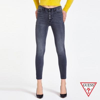 GUESS-女裝-排釦緊身牛仔褲-深灰