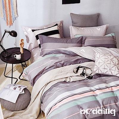 BEDDING-100%棉6尺加大雙人薄式床包三件組-森系生活