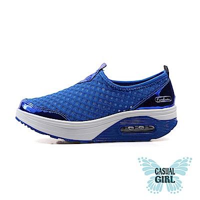 Casual Girl「樂遊女孩」網布氣墊健走鞋 (藍色)