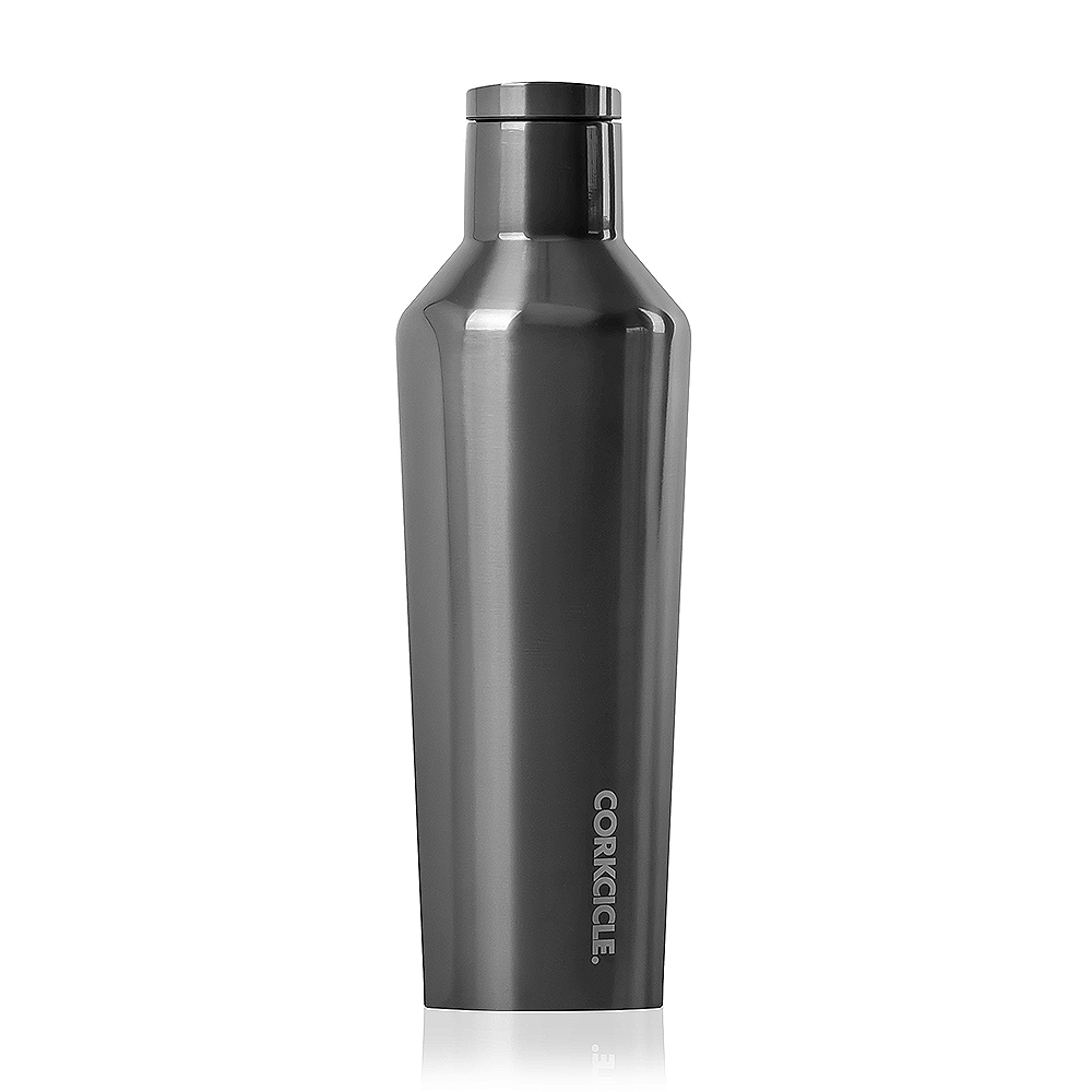 CORKCICLE 酷仕客Metallic系列三層真空易口保溫瓶470ml(金屬灰)