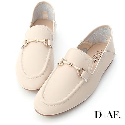 D+AF 品味焦點.馬銜釦可後踩樂福鞋*杏
