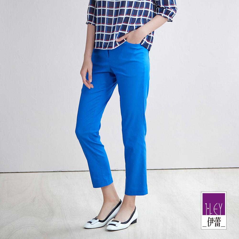 ILEY伊蕾 都會經典九分窄管褲(白/藍)