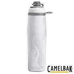 《CAMELBAK》運動保冰噴射水瓶 象牙白 750ml (CB1877101075)