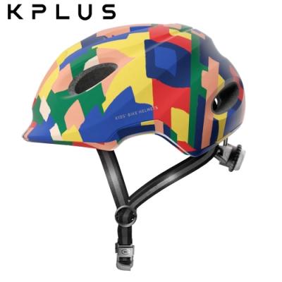 KPLUS 兒童/青少年休閒運動安全帽 PUZZLE彩色版-Creator-積木藍