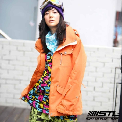 STL Snow 韓國戶外機能滑雪板/雪衣外套 男女款 橘