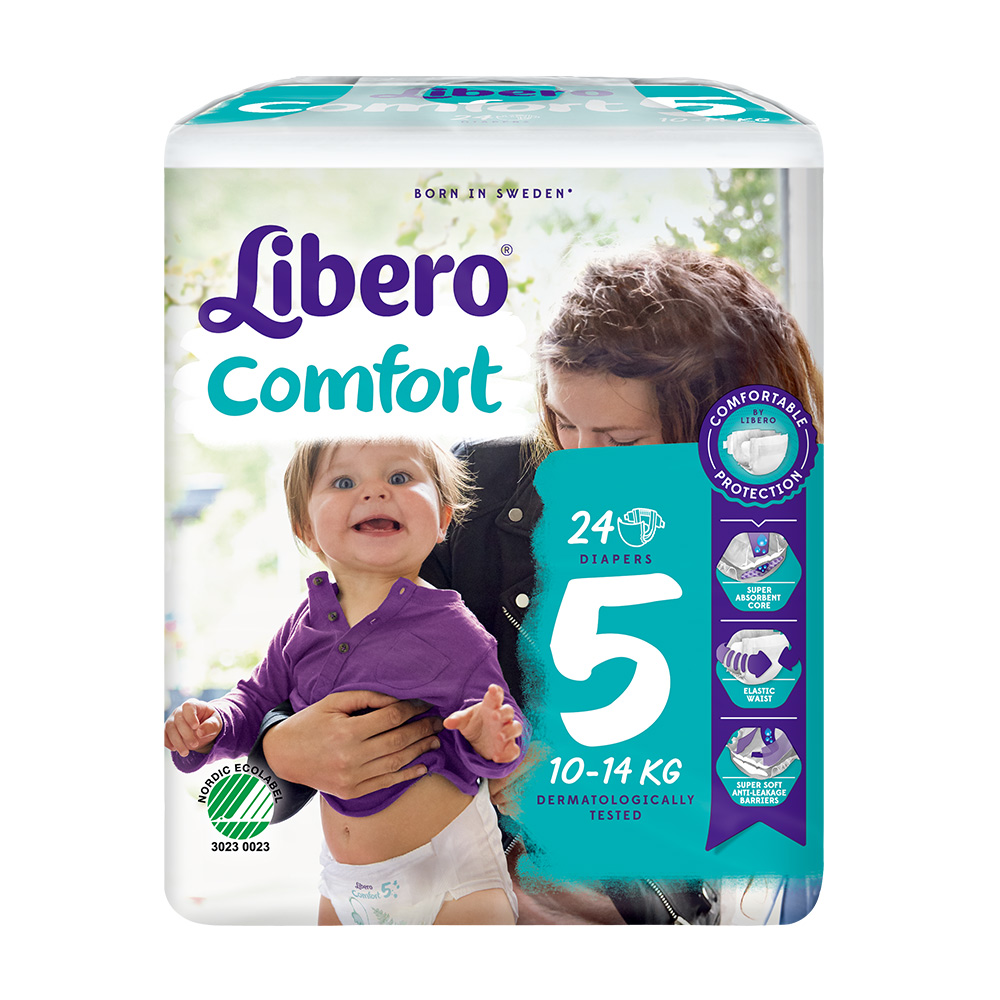 Libero麗貝樂 黏貼式嬰兒紙尿褲(5號L)(24片 / 包)