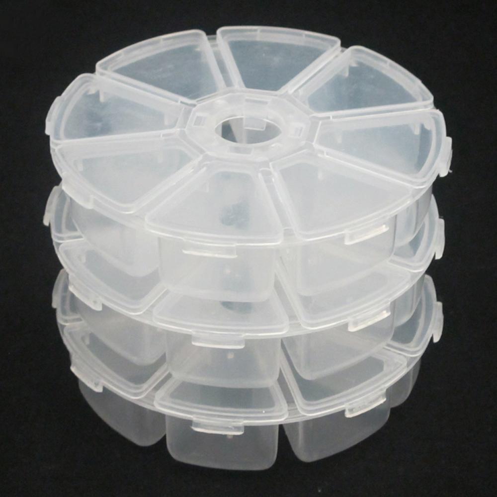 月陽圓型8格雜物收納盒萬用盒藥盒超值3入(RP83)