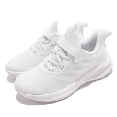 adidas 慢跑鞋 FortaRun EL K 運動 童鞋 女鞋 愛迪達 透氣 避震 魔鬼氈 中大童 全白 GY7602