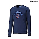 K-SWISS Crew Neck Sweatshirt圓領長袖上衣-男-藍