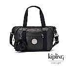 Kipling 飄渺黑立體壓紋手提側背包-ART MINI