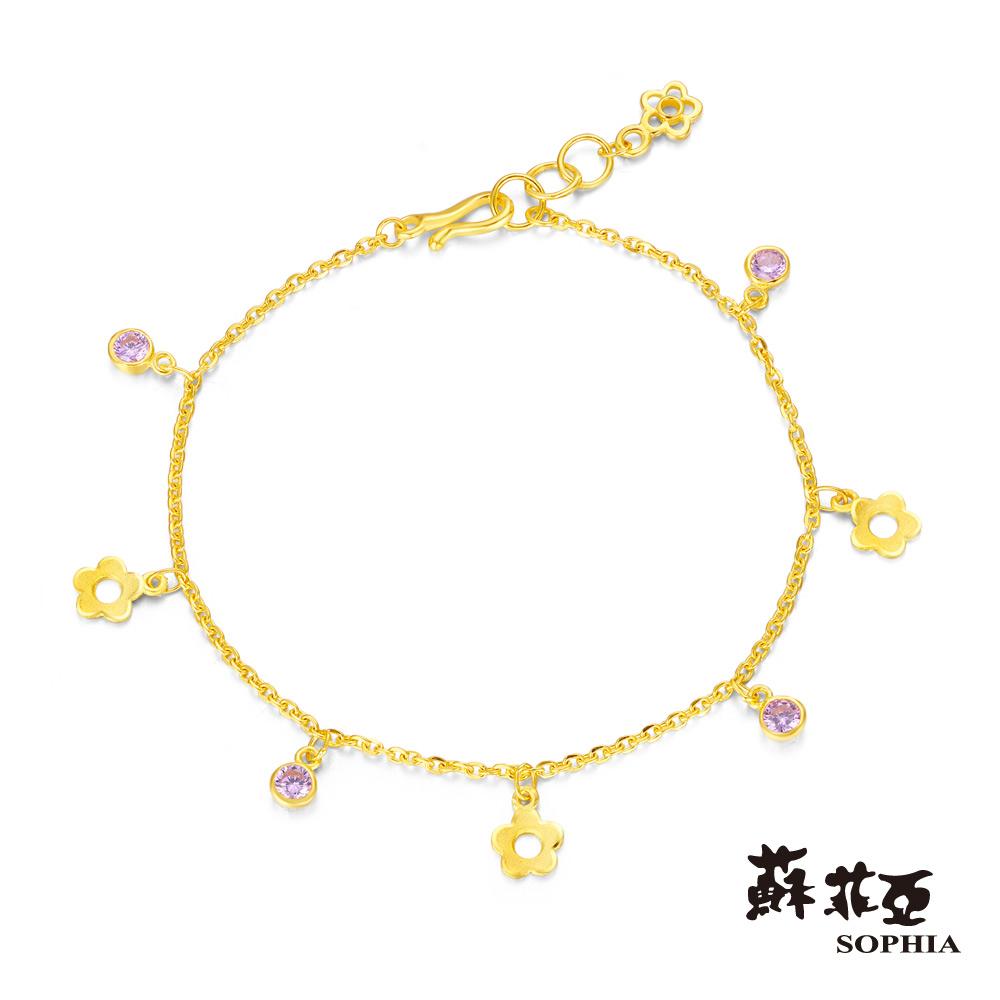 蘇菲亞SOPHIA - Gold Shine系列花花世界黃金手鍊