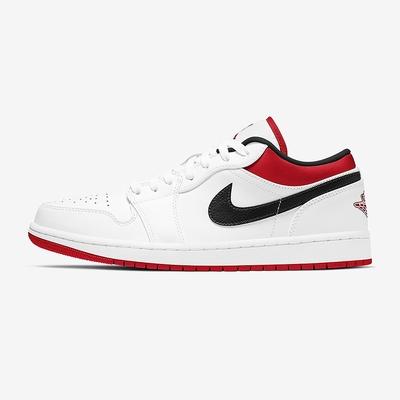 NIKE 休閒鞋 喬丹 運動鞋 男鞋 白紅 553558-118 AIR JORDAN 1 LOW