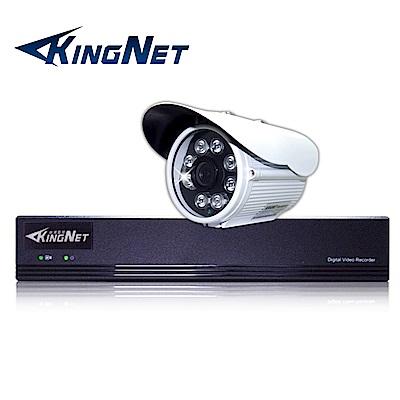 監視器攝影機 KINGNET 4路4MP監控主機 + 1支 HD 1080P 防水槍型