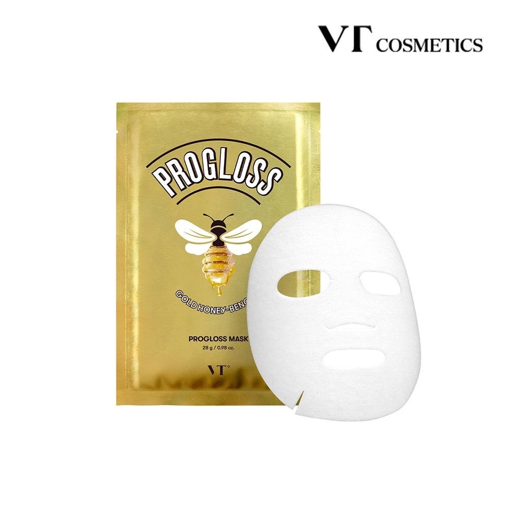 韓國 VT Progloss Mask 黃金蜜苯面膜 淡化細紋 提亮膚色 28g x 6pcs