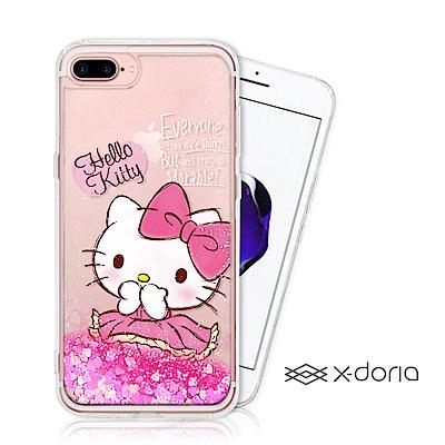 Hello Kitty iPhone 7/8 plus 亮片流沙手機軟殼 - 俏...
