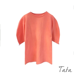 素色落肩袖縫珠上衣 共二色 TATA-(S~L)