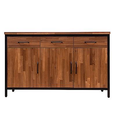 D&T 德泰傢俱 格萊斯積層木工業風4.5尺餐櫃-136.2x45.3x84.2cm