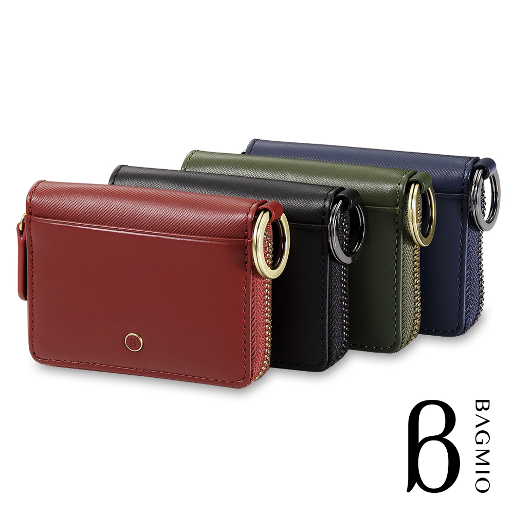 BAGMIO vigor 牛皮雙卡鑰匙零錢包(四色任選)