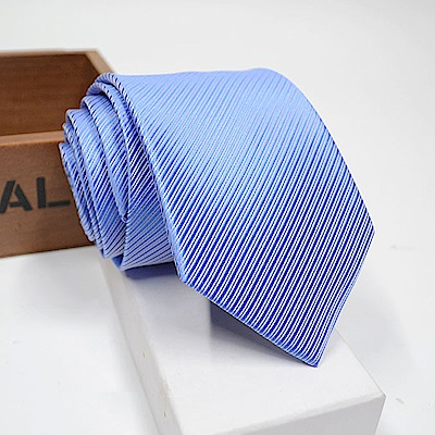 拉福   領帶窄版領帶6cm防水領帶手打領帶(天藍)
