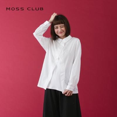 【MOSS CLUB】簡約風假兩件式造型-襯衫(二色)