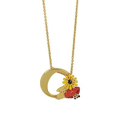 Les Nereides 花卉系列 花樣鑲鑽O英文字母鑲鑽項鍊