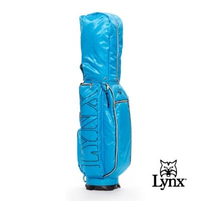 【Lynx Golf】Lynx刺繡輕量9吋口徑四口球桿袋-藍色