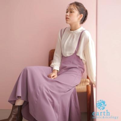 earth music 【SET ITEM】高腰吊帶裙+落肩蓬袖上衣