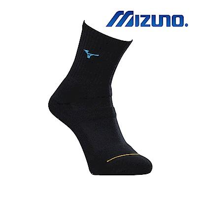 MIZUNO 男運動厚底襪 5入 黑X藍 32TX900392