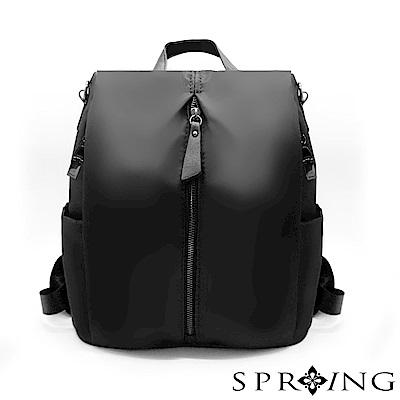 SPRING-偶然相遇的輕量防盜多用後背包-星夜黑