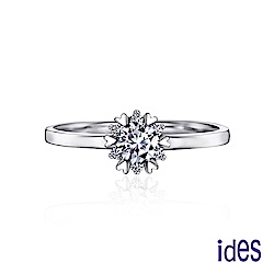 (無卡分期12期) ides愛蒂思 無盡依戀。30分八心八箭完美車工鑽石戒指