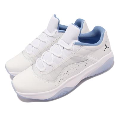 Nike 籃球鞋 Air Jordan 11 CMFT Low 男鞋 喬丹 11代設計靈感 避震 果凍底 皮革 白 藍 DO0751-100