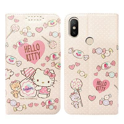 Hello Kitty貓 小米A2 粉嫩系列彩繪磁力皮套(軟糖)