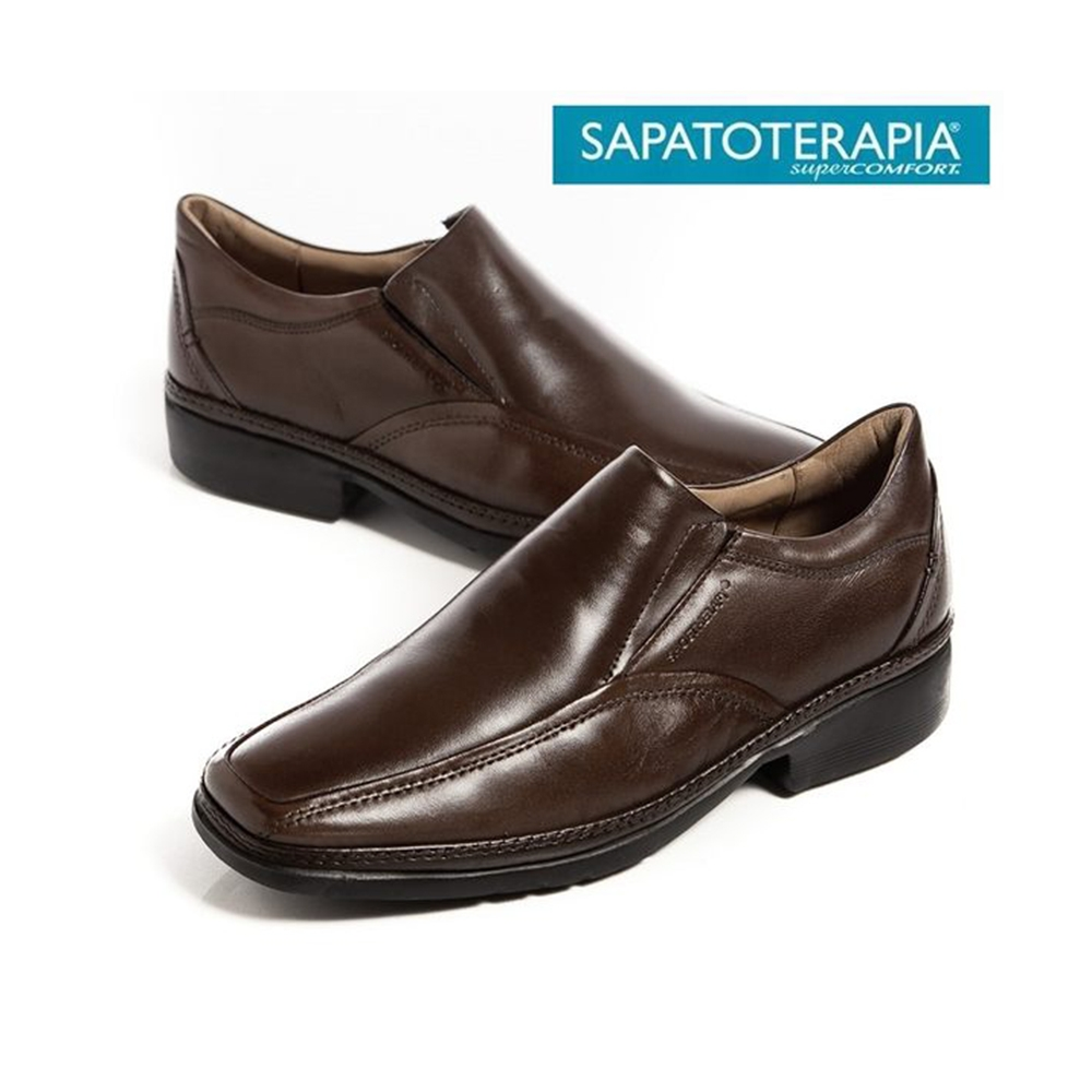 SAPATOTERAPIA 巴西超輕量直套皮鞋-咖(另有黑)