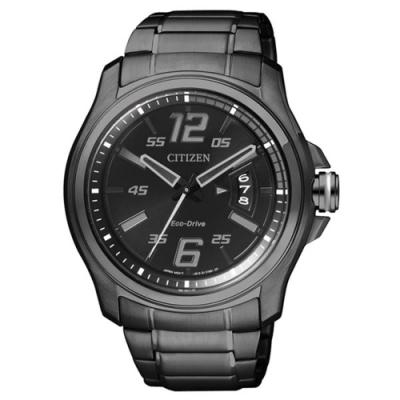 CITIZEN星辰 GENTS光動能時尚腕錶-黑(AW1354-58E)42mm