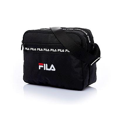 FILA 橫式側肩包-黑 BMT-5202-BK