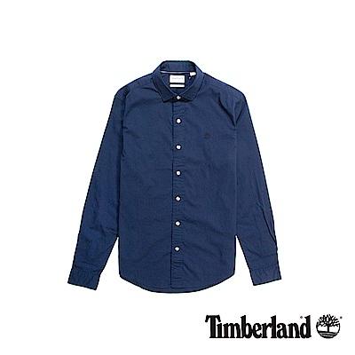 Timberland 男款暗藍色Eastham River長袖襯衫