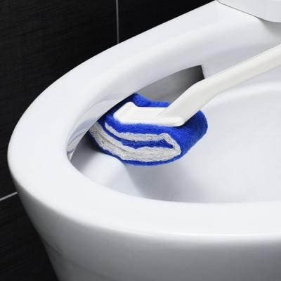 【Cap】免清潔劑長柄無死角馬桶刷