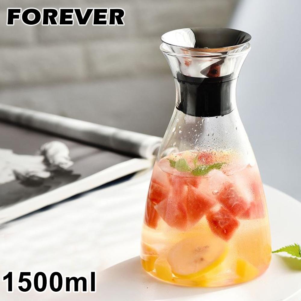 日本FOREVER 歐式丹麥風格耐熱玻璃水壺1500ML