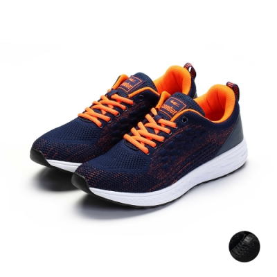 COMBAT艾樂跑男鞋-針織運動鞋-藍桔/黑(22573)