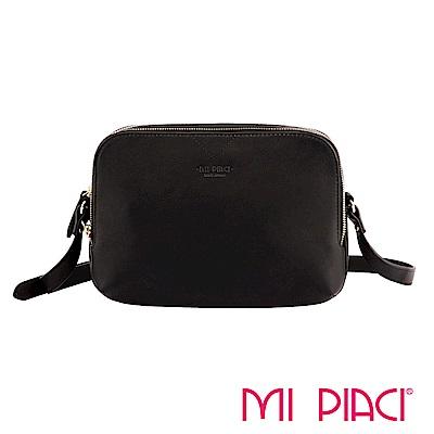 MI PIACI革物心語-VICKY系列全牛皮斜背包-黑色 1283504