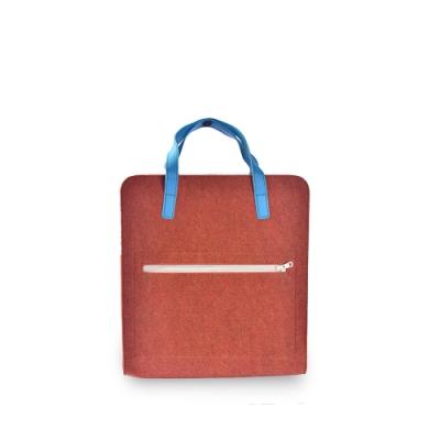 M.R.K.T. 素皮革極簡方形後背包-526181C COPPER(橘色)