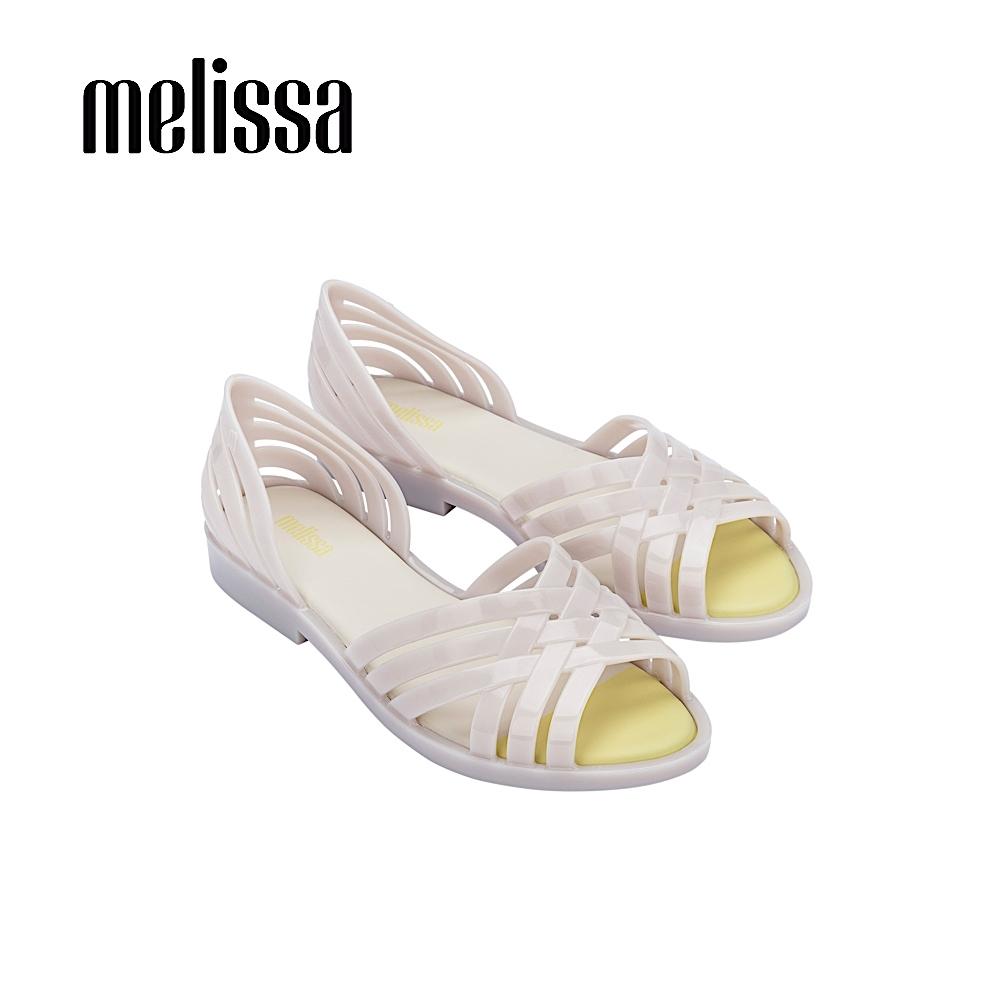 Melissa  FLORA  果凍感交叉設計涼鞋- 白