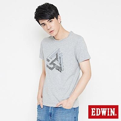 EDWIN 炫玩立體ED印花短袖T恤-男-灰色