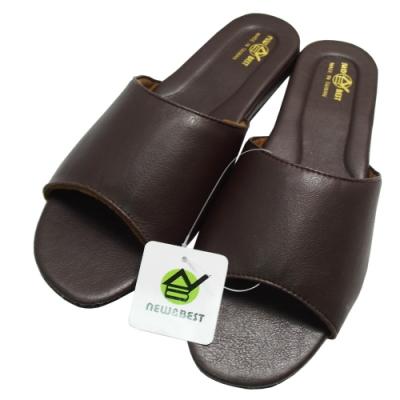 日式仿羊皮手工室內拖鞋-咖啡色×2雙