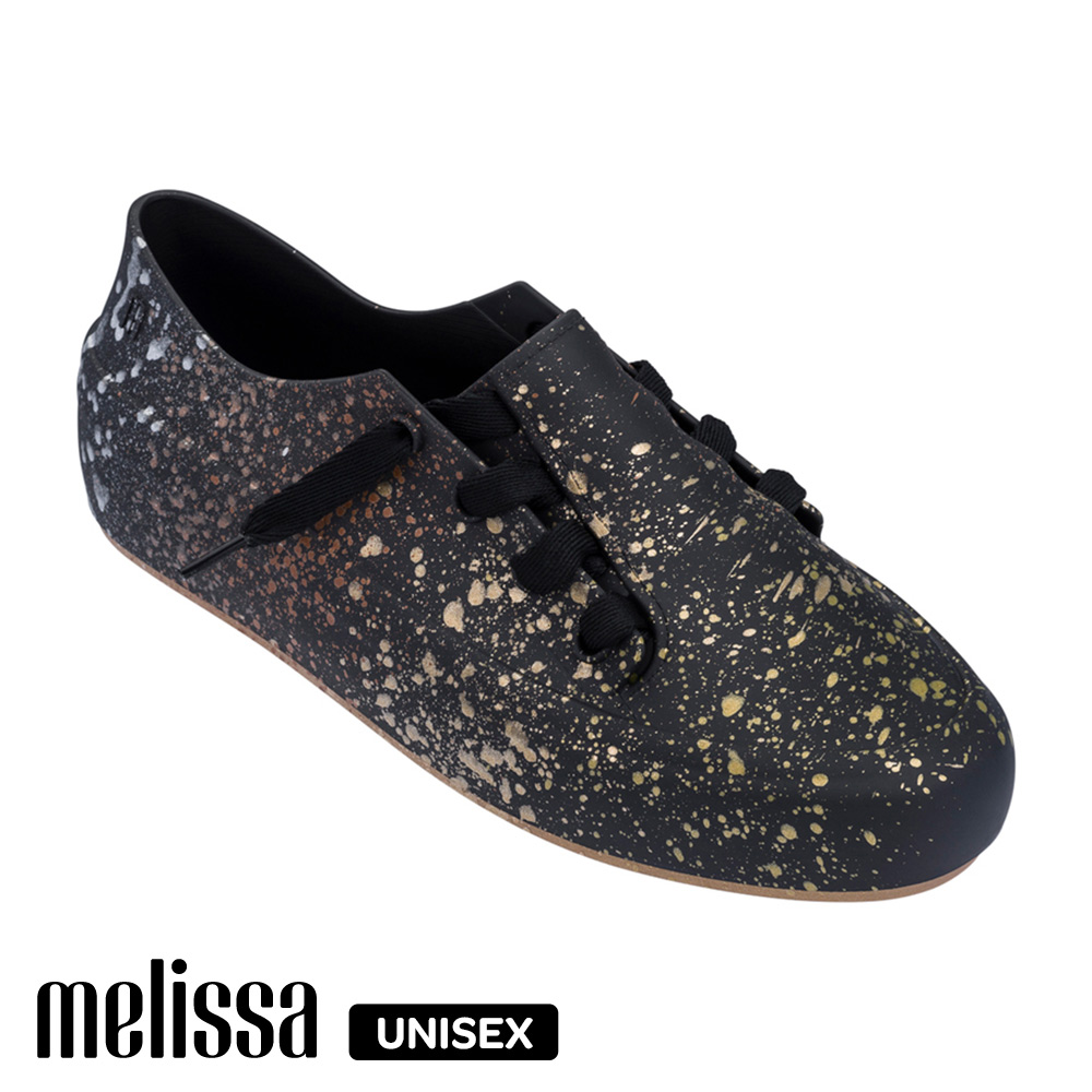 Melissa 潮流Sneaker 綁帶休閒鞋-噴漆黑