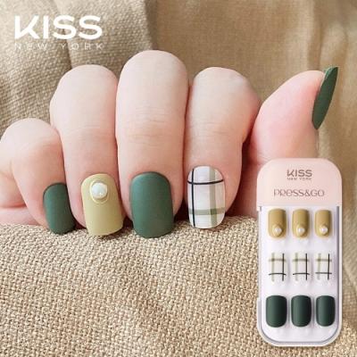 KISS New York-Press&Go頂級光療指甲貼片(抹茶千鳥格 KPNA21KA)